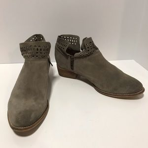 Seychelles snare perforated ankle suede booties
